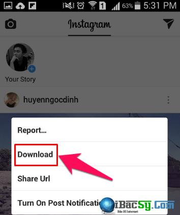 Hướng dẫn tải ảnh Instagram trực tiếp trên điện thoại Android + Hình 8