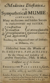 Cover of Paracelsus's Book Medicina Diastatica or Sympatheticall Mumie