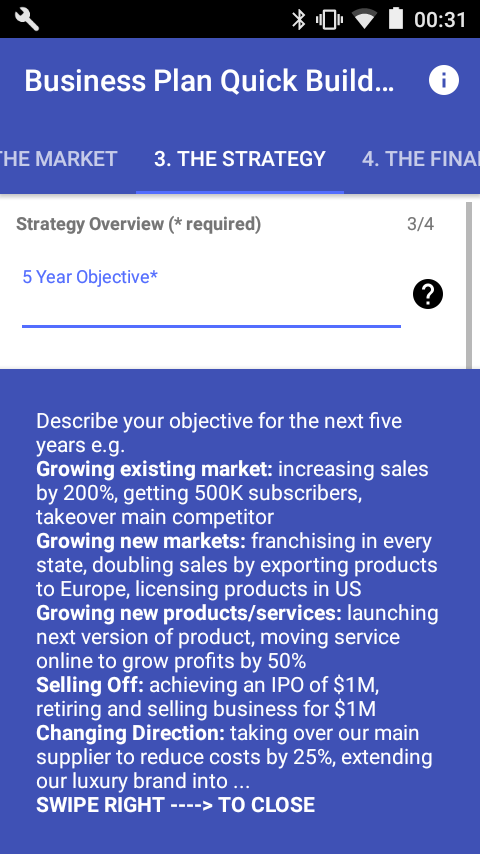 Business Plan Quick Builder- screenshot