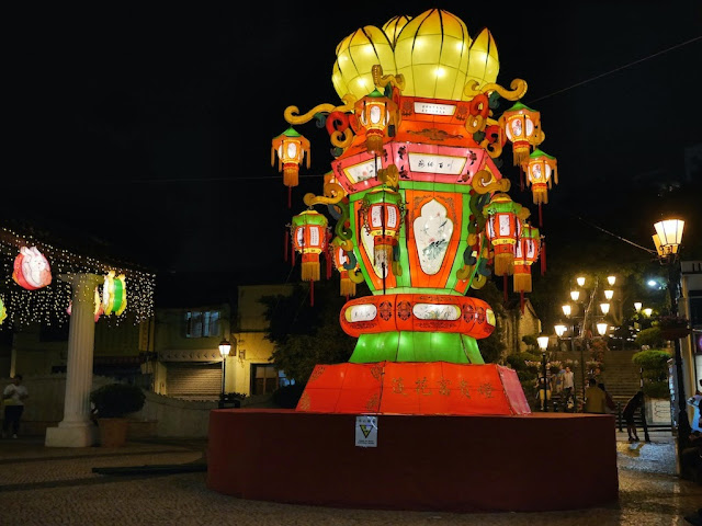 lantern display in Taipa Village, Macau, for the Mid-Autumn Festival