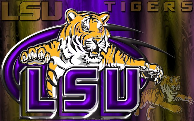 LSU Tigers 3D Wallpaper
