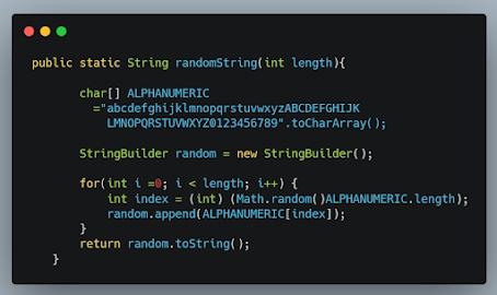 3 Examples to Generate Random Alphanumeric String in Java - UUID Example