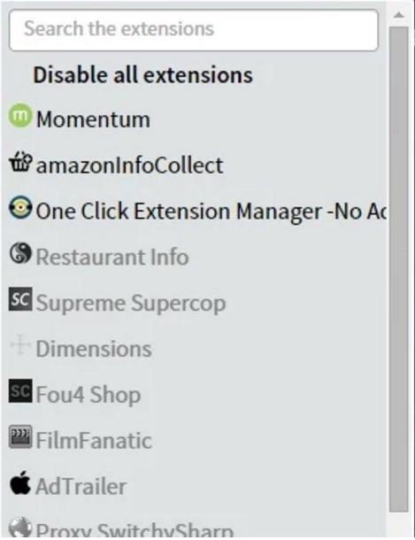 Chromeの拡張機能をワンクリックでオンオフ管理