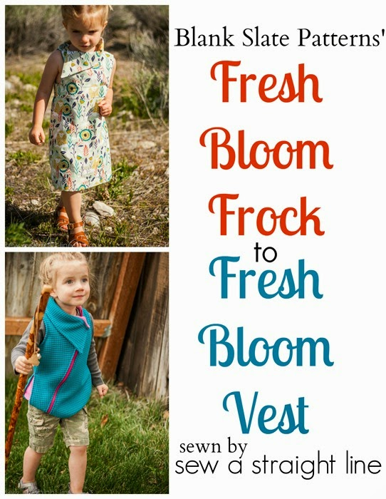 One pattern, two ways - Fresh Bloom Frock by Blank Slate Patterns sewn by Sew a Straight Line - Girls dress sewing pattern