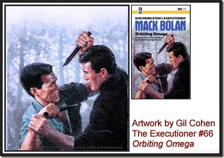 Executioner #66, art by Gil Cohen, MensPulpMags.com