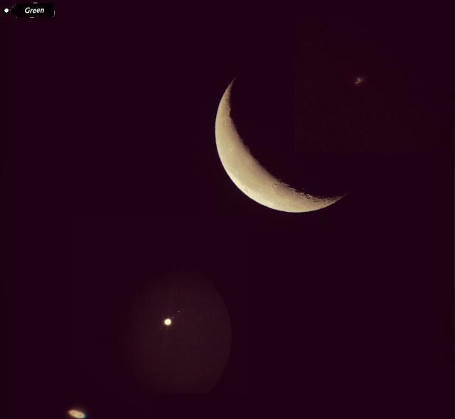 اصطفاف القمر مع بعض الكواكب