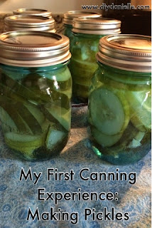 I highly recommend making your own pickles. It's not as hard as I expected and it's a great way to use up all the extra cucumbers in the garden if you can't manage to eat them all.