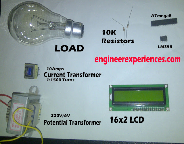 Components required for Power Factor Measurement