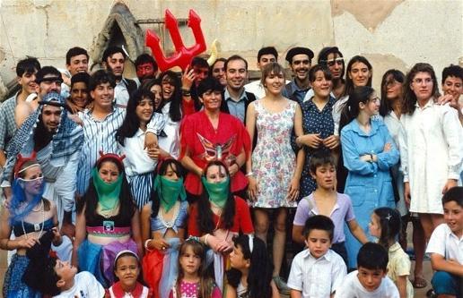 Foto de la 1ª representación del Herrero de Pancrudo, verano de 1994
