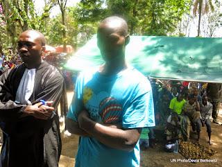 Procès de Manoti poursuivi par le tribunal militaire de Goma pour six chefs d'accusation dont les enlèvements. Le 20/04/2015 Photo Monusco