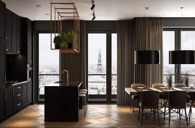 Gambar Desain Interior Rumah Minimalis Modern Warna Gelap