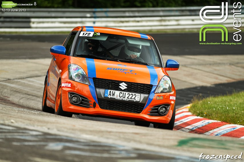 Suzuki Swift Stage 2 Rent4Ring at the Nurburging