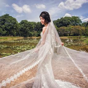 You Make Me Shine by Emest Freezo - Wedding Bride ( wedding photography, wedding gown, wedding, white, wedding dress, bride, photography )