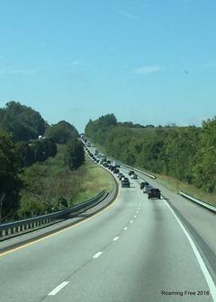 Heading SW on I-81