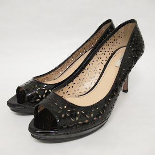 Prada Leather Lace Peep Toes
