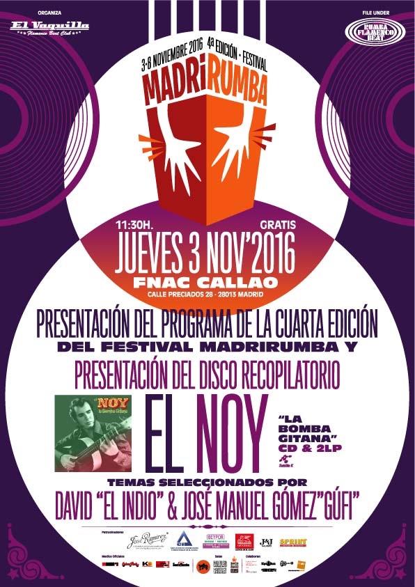 MadriRumba 2016 Cartel Presentación Programa y Disco