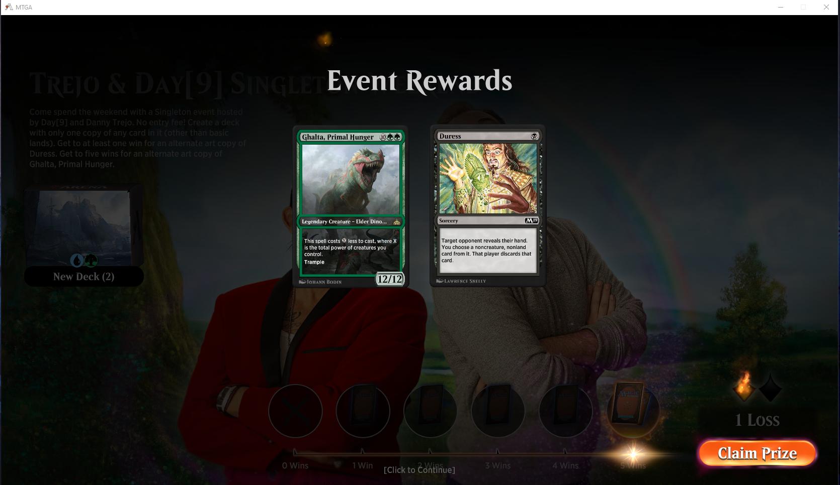 Trejo Duress/Ghalta Rewards : MagicArena