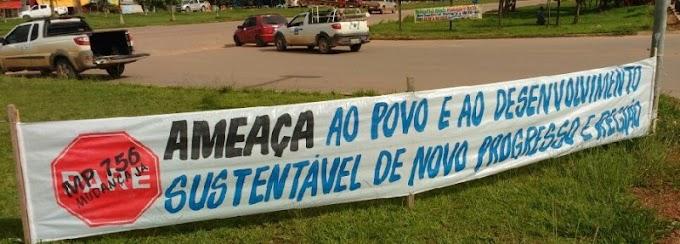 ENTIDADES CONFIRMAM BLOQUEIO DA BR-163 EM NOVO PROGRESSO.