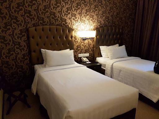 Twin bedroom at Merchant Hotel in Georgetown Penang
