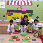 Healthy Bhel Day Celebrated by Playgroup Morning Section at Witty World, Chikoowadi(2018-19)