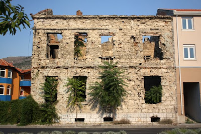 Bosnia and Herzegovina war damage in Mostar