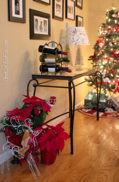 Christmas dining room sideboard