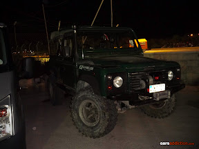 Land Rover Defender with lift kit