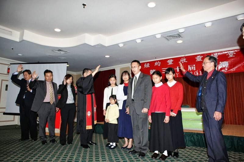 Pastor Cheng returns. 2010-01-03 鄭牧師按立