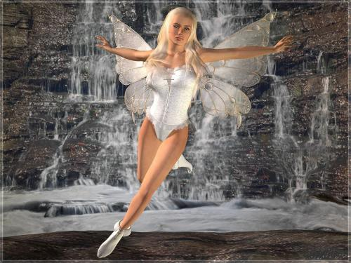 White Fairy Beauty, Fairies Girls