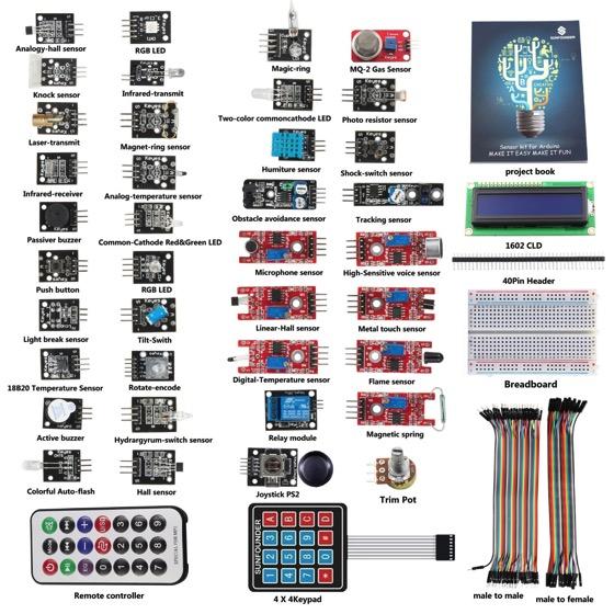 Sunfounder 37 sensors