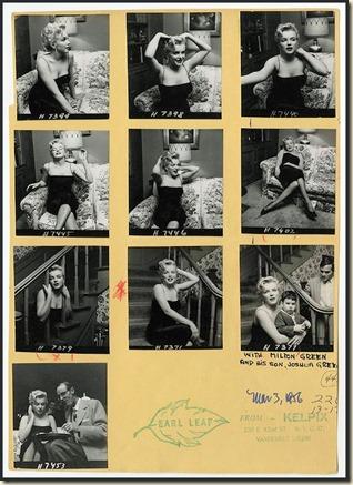 Earl Leag proofsheet, Marilyn Monroe 1956