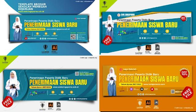 Free Download : Contoh Spanduk PPDB Penerimaan Siswa Baru SMK Comp Coreldraw