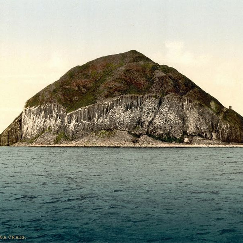 Ailsa Craig And Its Curling Stones
