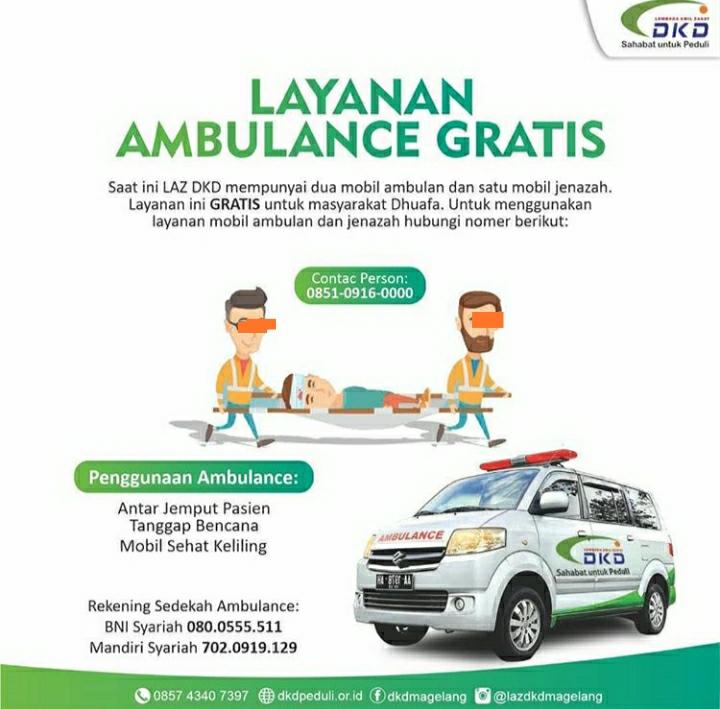 Layanan Ambulance Gratis DKD Magelang