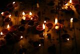 Earthen lamps lit for Diwali festival