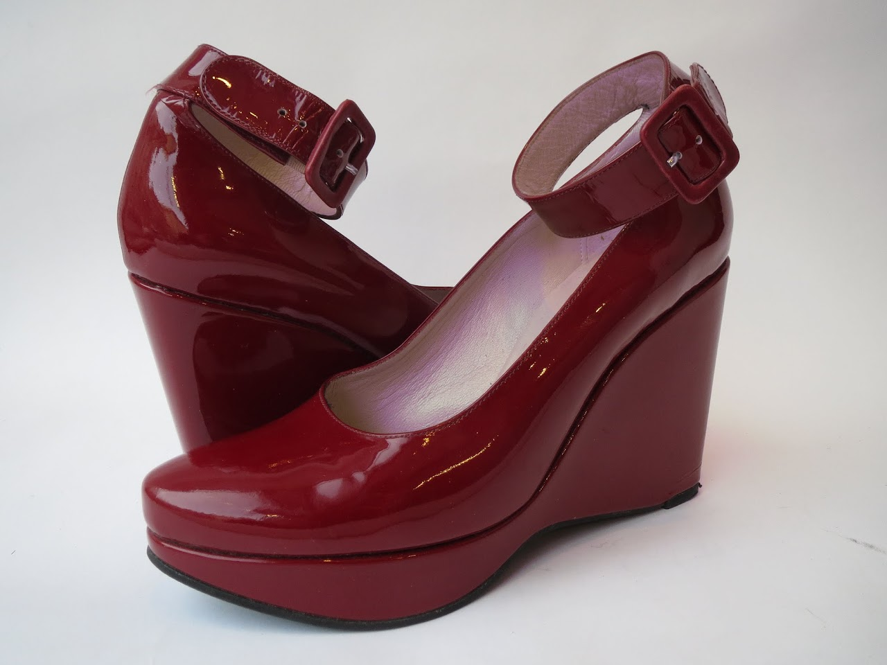 Robert Clergerie Patent Wedges