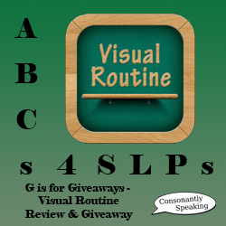 ABCs 4 SLPs: G is for Giveaways - Visual Routine Review and Giveaway image