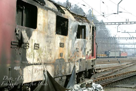 Lokbrand von Goldau (SZ) am 23. März 2005
