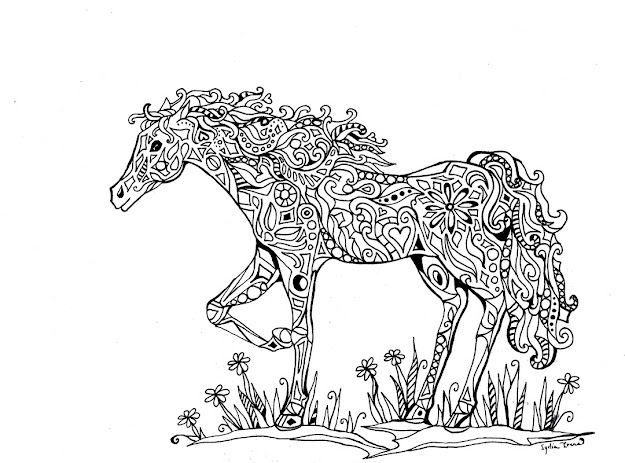 Intricate Coloring Pages For Adults  Announcing Vidonya On Etsy