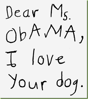 Obama_Letters I love your dog