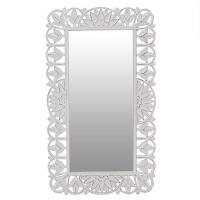 καθρέπτης ξύλινος αντικέ λευκός