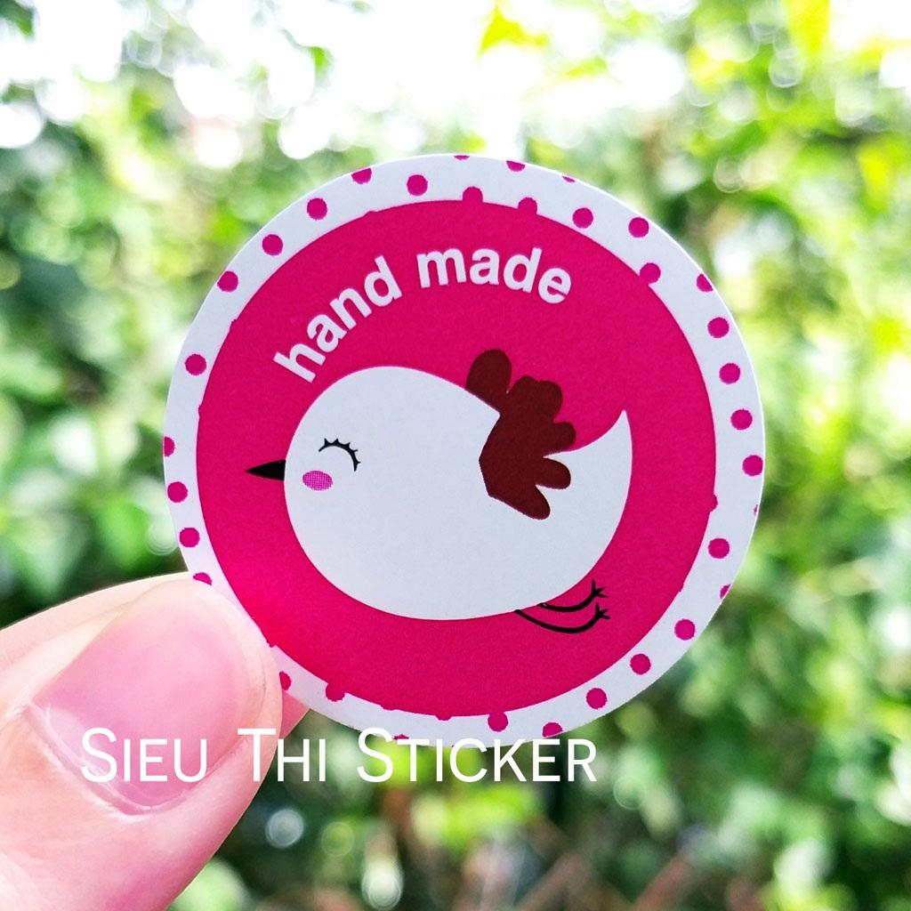 tem chim hồng handmade