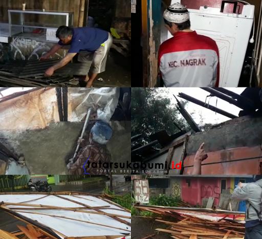 Hujan Es dan Puting Beliung Terjang Sukabumi, Puluhan Pohon Tumbang dan Rumah Warga Rusak