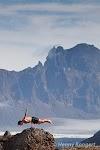 Wim Hof training in Iceland.