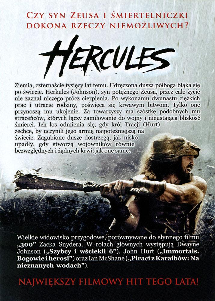 Ulotka filmu 'Hercules (tył)'