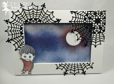 Stampin' Up! - Blog Hop, Haunt Ya Later, Halloween, Bilderrahmen, Zierdeckchen Spinnennetz, Spider Web Doilies, Background, Display