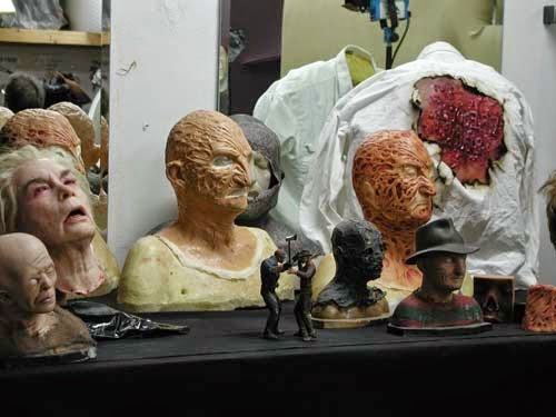 Inside Make-up FX Wizard Bill Teriyakis' shop, WTC Productions.