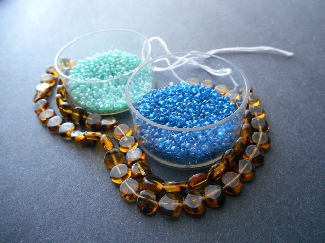 Aquatic Tortoiseshell Bead Color Idea