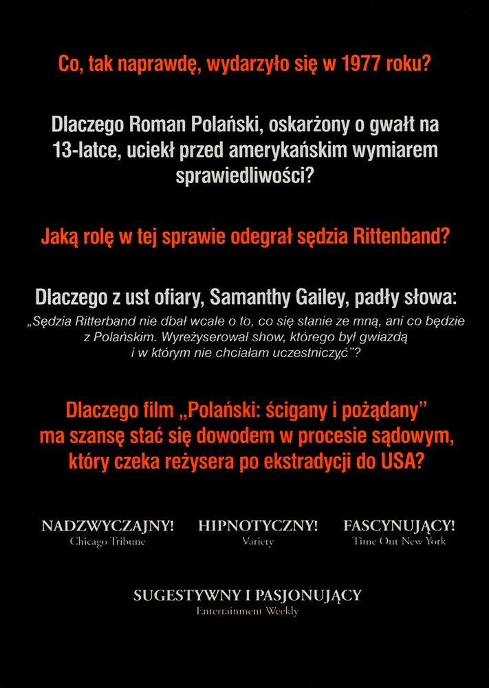Ulotka filmu 'Polański: Ścigany i Pożądany (tył)'