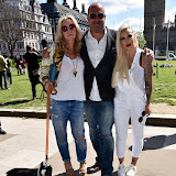 OIC - ENTSIMAGES.COM - Meg Matthews, Marc Abraham and Jodie Marsh at the Puppy Farming Protest - demonstration and photocall 24th May 2016, rally and photocall in London's Parliament Square to raise awareness of the UK's cruel puppy farming trade, in association with PupAid, Boycott Dogs4Us and C.A.R.I.A.D.  Photo Mobis Photos/OIC 0203 174 1069